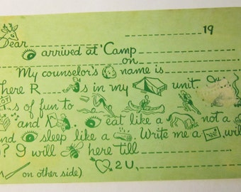 Vintage Girl Scout Postcard circa 1949-Unused