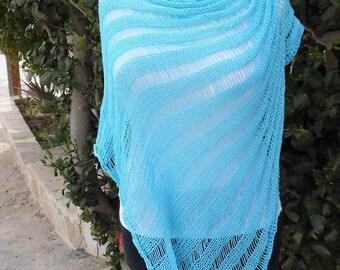 poncho, cape, handknittet, unique, beach dress