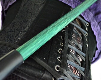 BDSM Baton - Dragon Green in Oak -  BDSM Spanking Toy / Cane