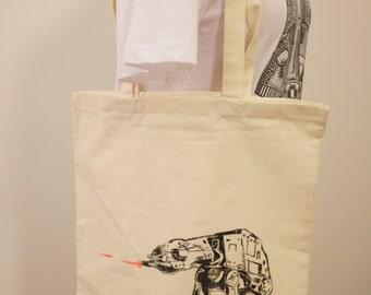AT-AT Canvas Tote Bag (100% Cotton)