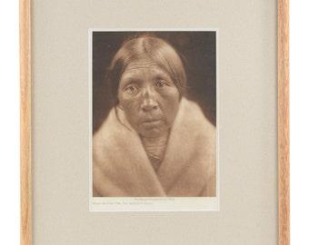 Sarsi  -original 1926 Native American  Tissue Gravure Photograph by Edward Curtis