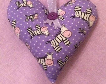 Handcrafted Zebra Hanging heart Decoration