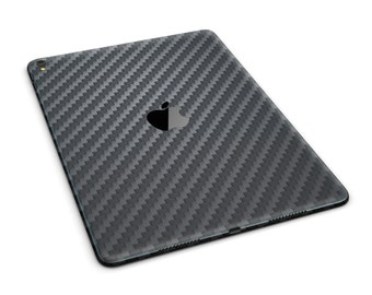 Carbon Fiber Texture Full Body Skin Decal for the Apple iPad Pro, Air or Mini (All Models Available)