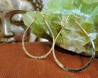14k Gold Filled Articulated Hinge Hoops