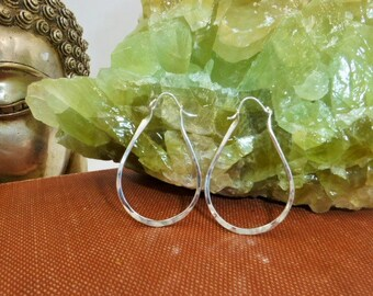 Sterling Silver Articulated Hoops