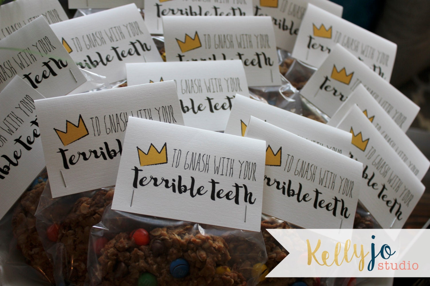 where the wild things are favor bag toppers with free matching favor sign