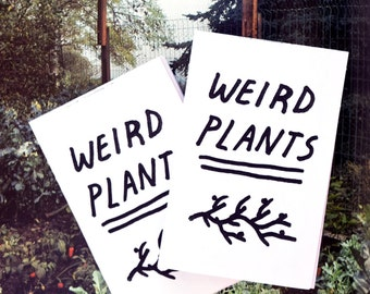 Weird Plants - Folding art zine.