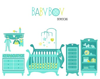 Baby items clipart | Etsy