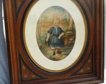 19th Century Conrad Roeder Oil Painting Victorian Boy Portrait St Louis Signed Original