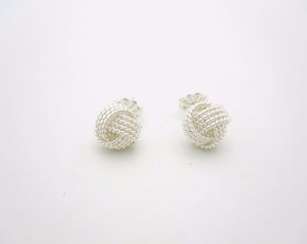 NEW Tiffany & Co. Sterling Silver Twist Knot Stud Earrings