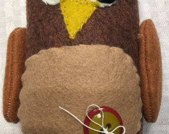 Sstuffed Felt Owl Doll