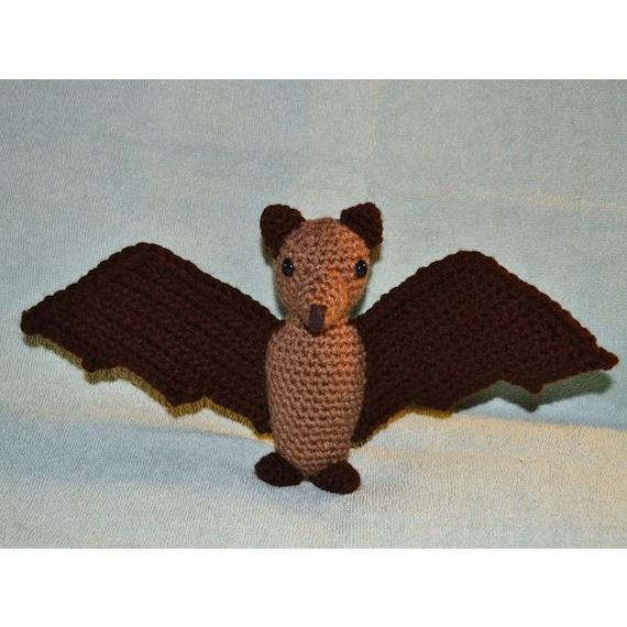 Amigurumi Bat Wings : Fruit Bat Handmade Amigurumi Crochet Bat