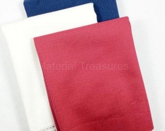 Denim Patriotic Fat Quarter Fabric Red White Blue 18 x 28-inches by Crossroads