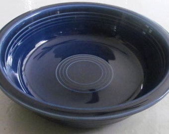 New Fiesta-Cobalt Blue Soup Bowl by Homer Laughlin