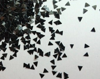 solvent-resistant glitter shapes-black triangles