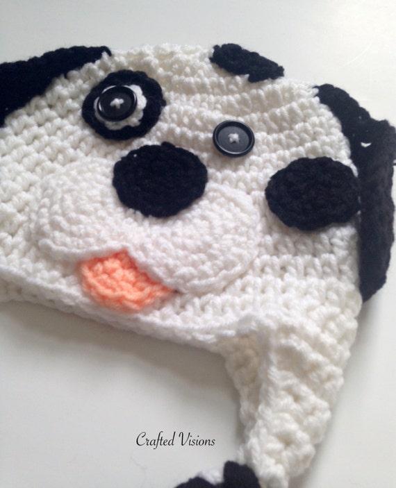 PATTERN** Crochet Dalmatian hat, All Sizes, Newborn to ...