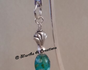 Butterfly Blue Bead Bookmark