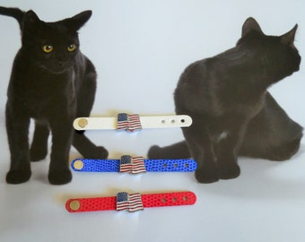 American flag slide charm rings