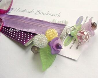 Riot of purple flowers Bookmark