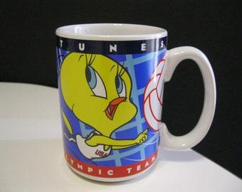 Tweety Bird Mug, Tweety Bird Olympic Volleyball Mug, Looney Tunes Olympic Mug