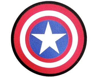 "2.2"" RETRO comic captain america sheild Iron on patch Applique motif"