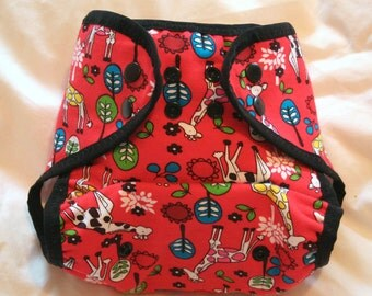 Giraffes Nappy Wrap for Cloth Nappies (Waterproof Nappy Cover)