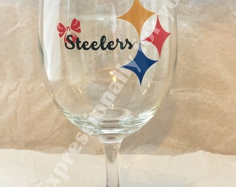 NFL pittsburg steelers GIRL Custom Wine Glass