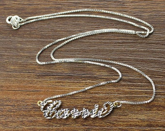 Carrie Style Name Necklace Personalized Sterling Silver CNC Craft Name Jewelry 3544