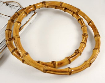Bamboo Ring Buckle Handle by 1 pair, HD-043