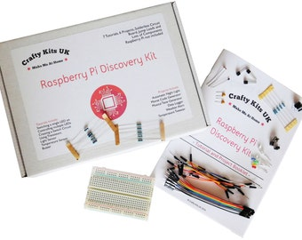 Raspberry Pi Discovery Kit - Includes 13 Projects / Tutorials, 32 Components, Raspberry Pi Starter Kit, Raspberry Pi Electronics Kit RPi Kit