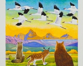 """Beyond Earthfire - 12""""x 12"""" Watercolor Print"""
