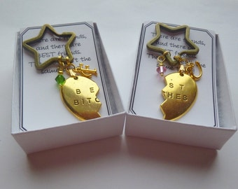 Personalized Birthstone Broken Heart Key Chains, Personalized Broken Heart Key Chain, Bff Key Chains, Best Friends Key Chains, Bff Gift, K2