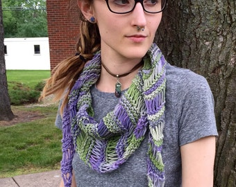 Summer scarf purple/green