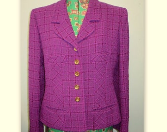 Purple Plaid SONIA RYKIEL jacket, size 42