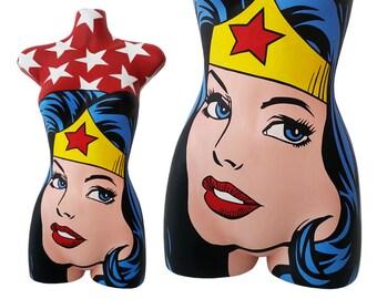Wonder Woman 3D Pop Art Mannequin - Custom Hand-Painted - Rare