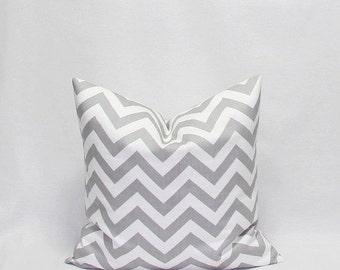 SALE Grey Pillows Gray Pillows Grey chevron pillows Gray and White Zig Zag pillow Decorative Pillow Covers Twill Storm Chevron 14 16 18 20 2