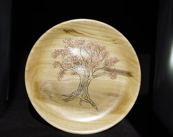Wooden Plate with Inlay