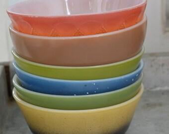 Colorful FUN Stack O' 6 PYREX Bowls