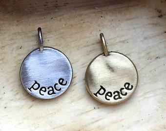 peace pendant + necklace