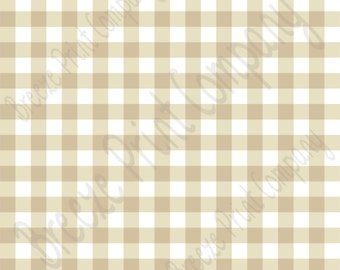 Beige and white buffalo check craft craft vinyl pattern sheet - HTV or Adhesive Vinyl -  tan khaki htv3416