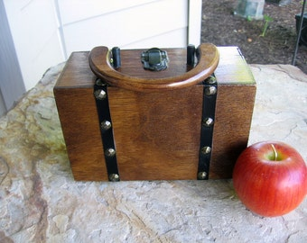 Vintage MARCUS BROTHERS of Miami Wooden Box Purse MCM