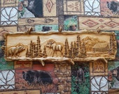 Moose Wood Carving Wood W...