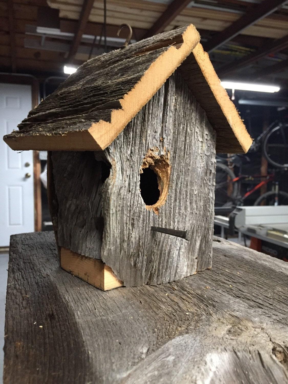 Barn wood bird home by theurbancraftsmanwi on etsy - Old barn wood bird houses ...
