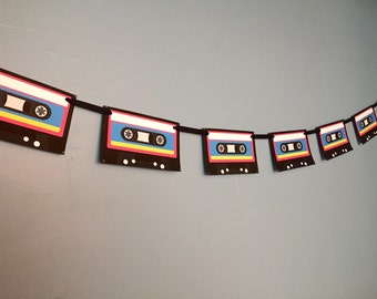 80's Cassette Party Banner