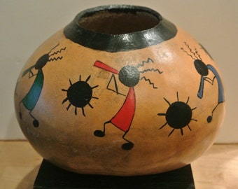 Private gourd collection Hand Painted gourd Dancing figures