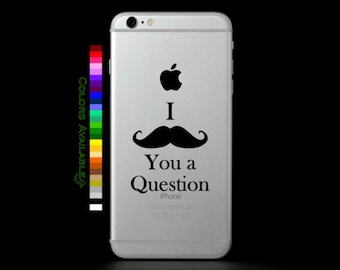 I Mustache You a Question Phone Decal