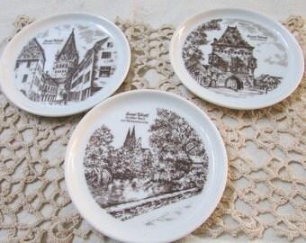 Vintage German coasters set of 3