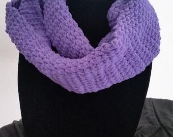 Purple Chenille Infinity Scarf