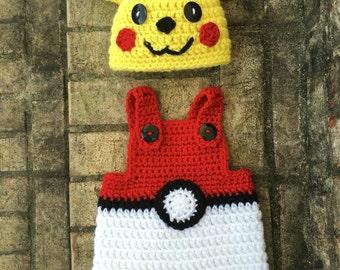 Newborn Pokemon Pikachu Outfit