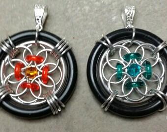 Flower Wheel Pendant Tutorial